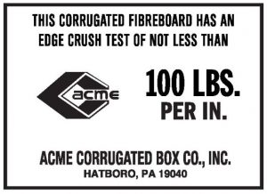 100 lbs per inch ECT